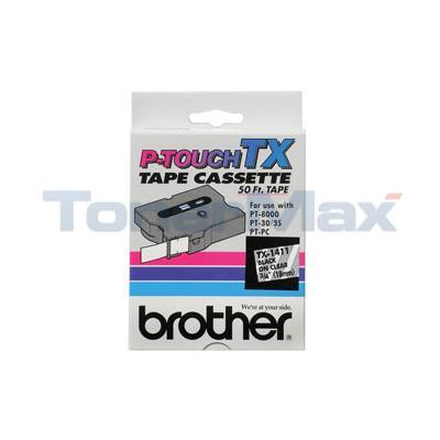 BROTHER P-TOUCH TAPE BLACK/CLEAR 18 MM X 15 M